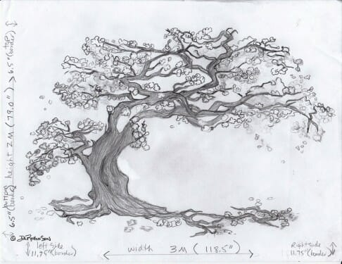 cherry-blossom-mural-drawing