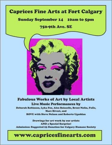 sept 14 art show & sale live music