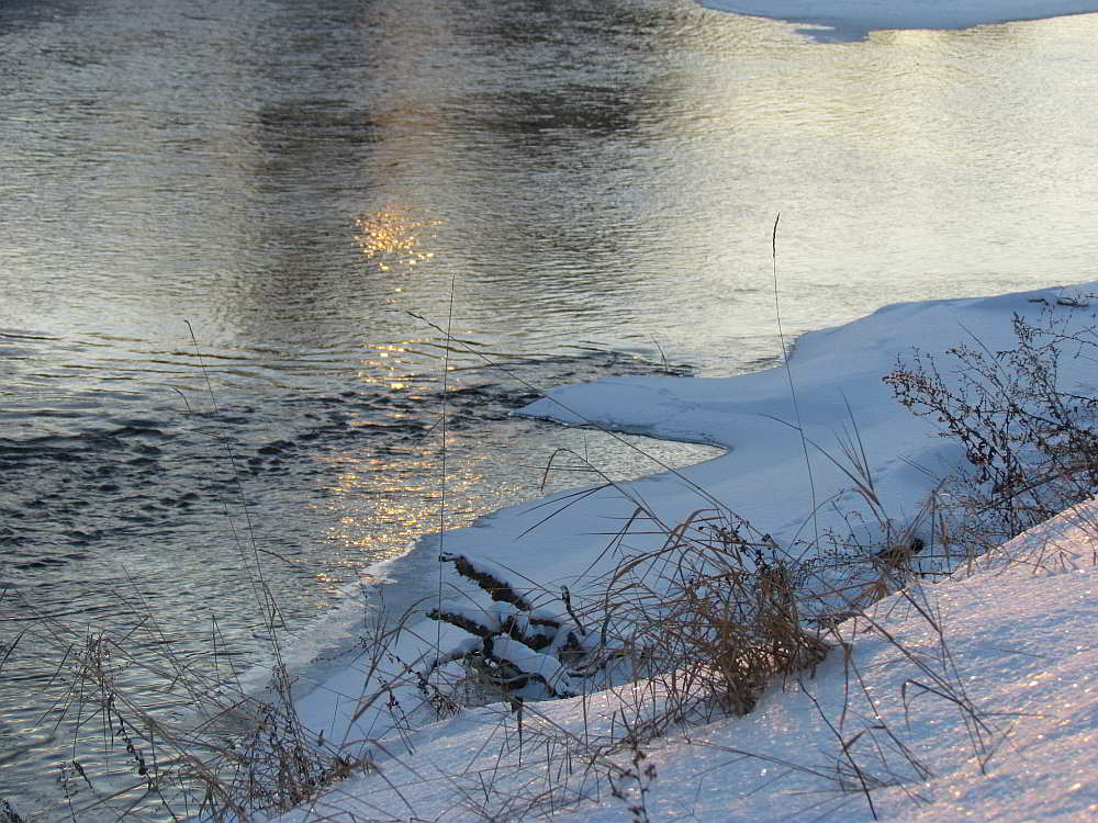 Winter river light