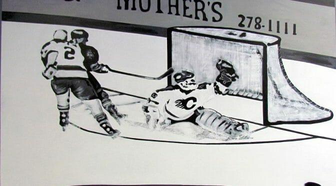 hockey mural