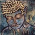 Blue Gold Buddha
