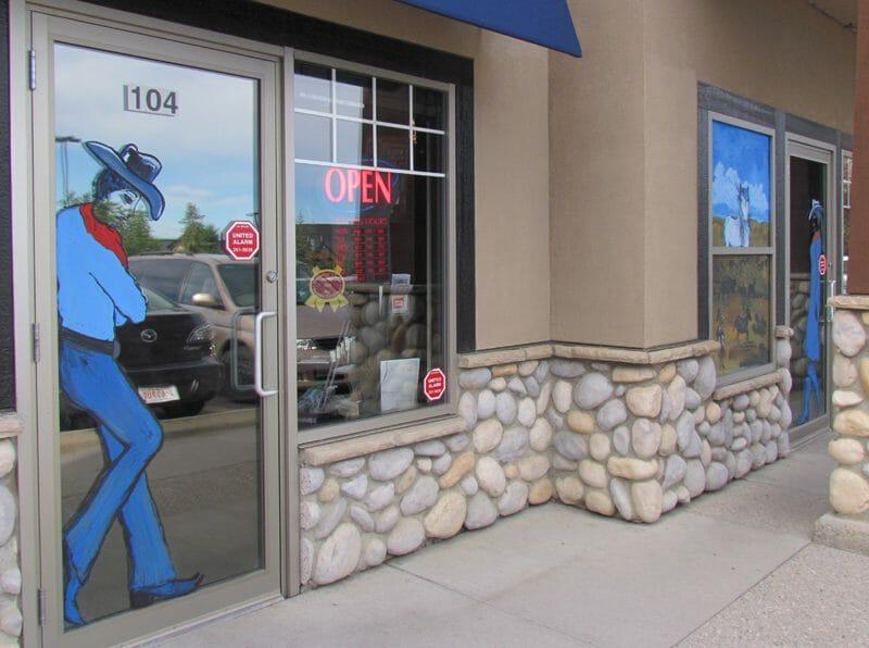 Stampede Window Painting 2