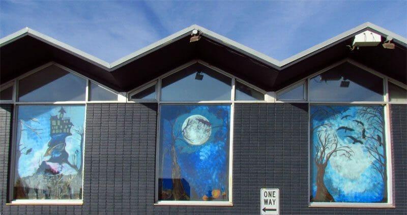 Halloween Window Mural