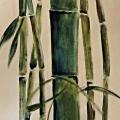 Blue Bamboo Scroll