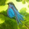 Blue & Purple Bird