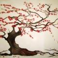 Cherry Blossom Tree Mural