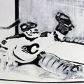 Retro Hockey Mural Goalie