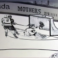 Retro Hockey Mural