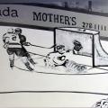 Retro Hockey Mural