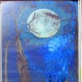 Moon Tree Window Painting