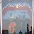 Stampede Saloon Window Painting