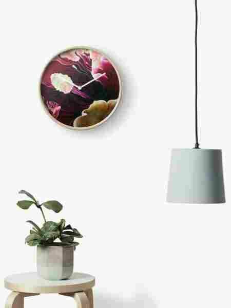Fine Art Hibiscus Clock