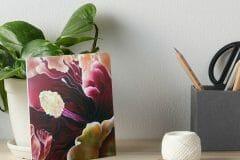 HIbiscus Macro Floral Print on Board