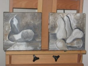 Bosc Pears Grisaille
