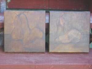 Burnt Umber in Two Layers