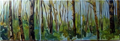 birch tryptych