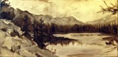 johnson lake landscape painting