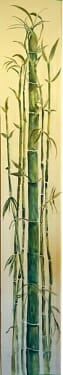 Blue Bamboo Wallhanging