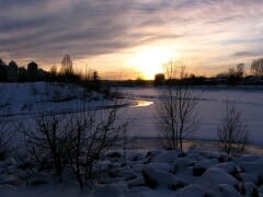 River Winter Dusk