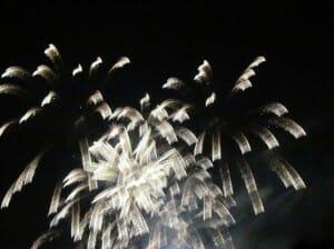 ribbon fireworks