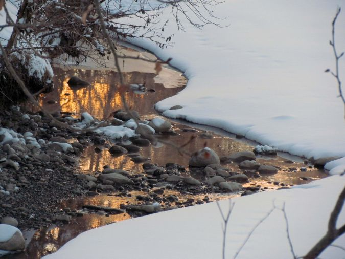 late afternoon ice