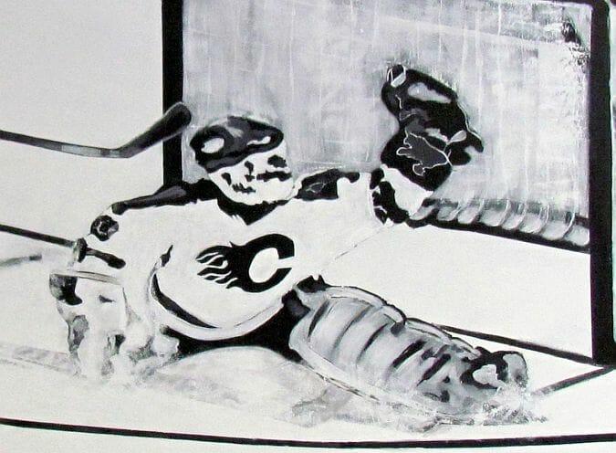 hockey mural goalie
