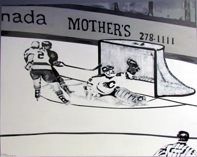 hockey mural full