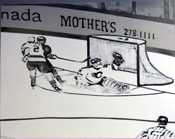 hockey mural full