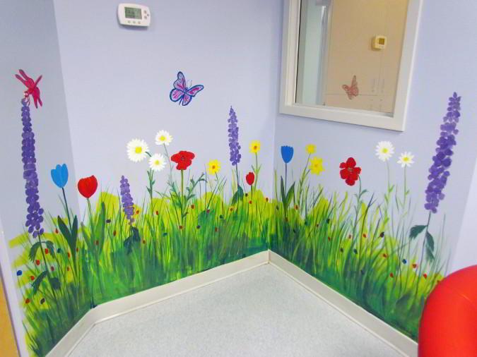 Garden Summer Mural Painting