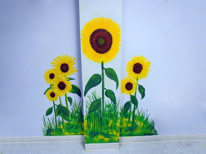 sunflower summer mural painting