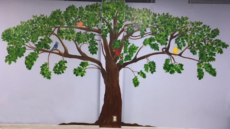 Tree Summer Mural Painting