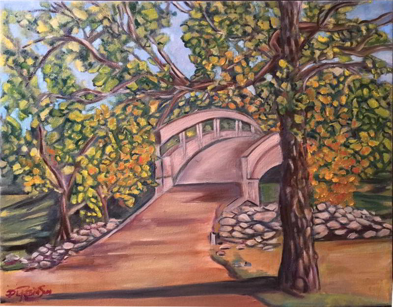 bridge oil painting