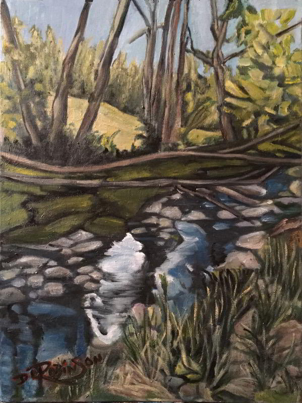 creek oil painting