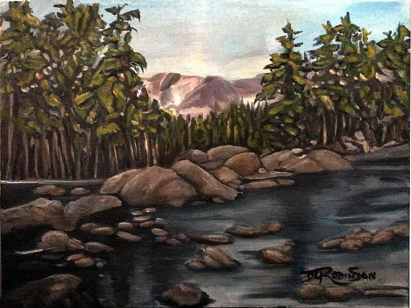 mountain landscape oil painting